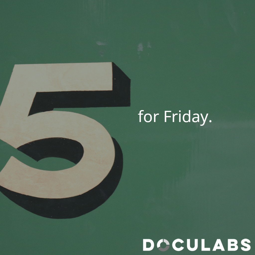 5 for Friday: WFH, CIOs Talk Cloud, Copiers, and AIIM Research