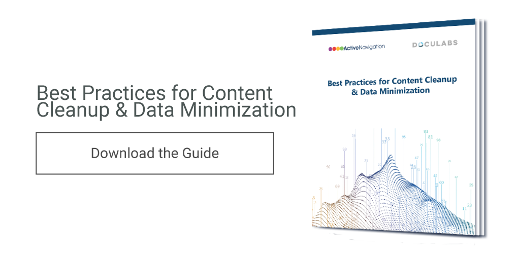 A New Guide to Content Cleanup & Data Minimization